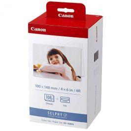 Canon Papír  pro termosublimační tiskárny, papír, bílý, CP220, 330, 108 ks, KP108