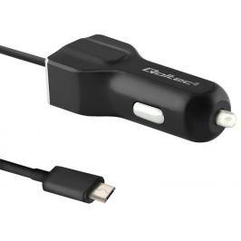 Qoltec Car charger | 12V-24V | 5V/3.4A | USB + micro USB