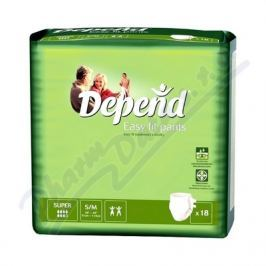 KIMBERLY CLARK Inkont.kalh.abs.DEPEND Easy Fit Super S/M /18ks