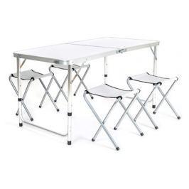 HAPPY GREEN Sada kempingová BILBAO, stůl a 4 skládací židličky