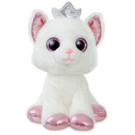 Plyšová Kočička s korunkou 18 cm