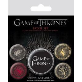 Game of Thrones PLACKY/ODZNAKY/SET 5 KUSŮ