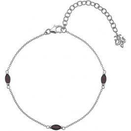 Hot Diamonds Stříbrný náramek  Anais Granát AB001