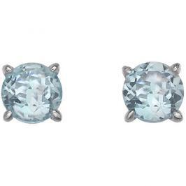 Hot Diamonds Stříbrné náušnice  Anais modrý Topaz AE012