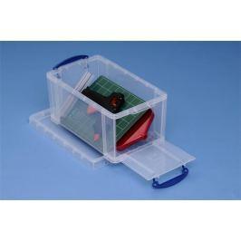 REALLY USEFUL Box, plastový, s víkem, 8 l, průhledný,