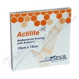 ADVANCIS MEDICAL Actilite 10x10cm krytí antimikrob.s medem 10ks