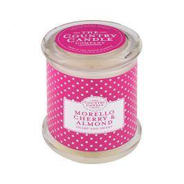 Country Candle Vonná svíčka ve skle s víčkem Višeň a mandle (Morello Cherry & Almond) 848 g