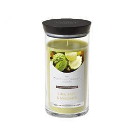 Country Candle Vonná svíčka ve skleněné dóze Limetka, bazalka a mandarinka (Lime, Basil & Mandarin)
