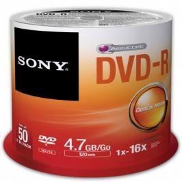 Sony Média DVD-R  DMR-47; 4.7GB; 16x; 50ks SPINDL