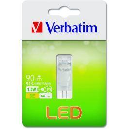 Verbatim LED žárovka , G4 1W 90lm (11W), typ kapsle, 90°, teplá bílá