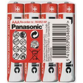 Panasonic R03 4S AAA Red zn