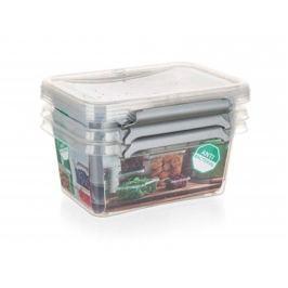 ORPLAST Sada plastových dóz NANO box 500 ml, 3 ks