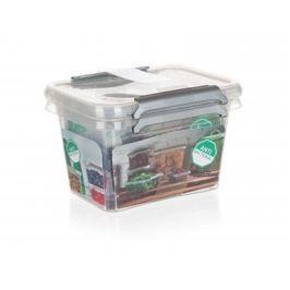 ORPLAST Sada plastových dóz NANO box 650 ml, 2 ks