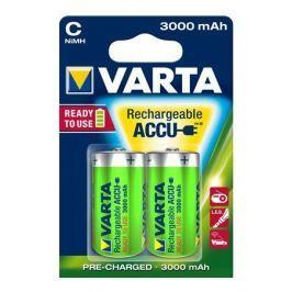 Varta Nabíjecí baterie, C (malý monočlánek), 2x3000 mAh, přednabité,  Power Accu