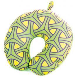 SKYWAY Cestovní polštářek mikrokuličky zelený