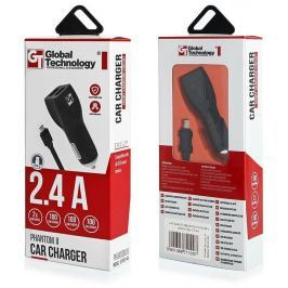 Global Technology CAR CHARGER GT PHANTOM II 2xUSB WITH CABLE Type-C 2.4A