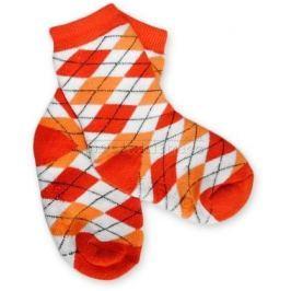 Baby ONO Bavlněné protiskluzové froté ponožky 12m+ - kárko červené/oranž