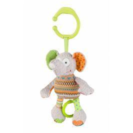 Baby ONO Závěsná hračka s hudbou  - Slon, slůně