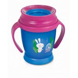 Canpol Babies - LOVI Kouzelný hrneček 360° LOVI 14+, modro/růžový - Králiček, 350ml
