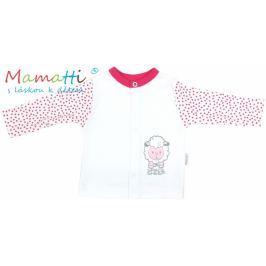 Mamatti Bavlněná košilka  - SHEEP - bílá/červené puntíky, 56 (1-2m)