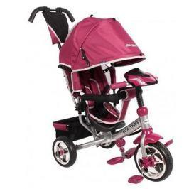 BABY MIX Dětská tříkolka Lux Trike s vodící tyčí a led světly - růžová