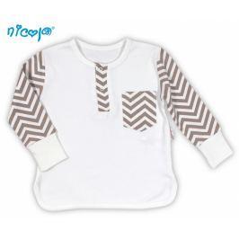 Nicol BIO kojenecké bavlněné tričko  MEDVÍDEK - dlouhý rukáv, 56 (1-2m)