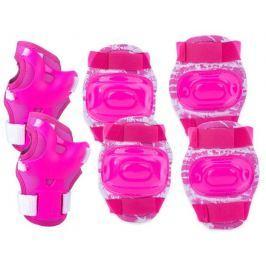 AEGIS - 3-dílná sada dětských chráničů růžové velikost S-L, M