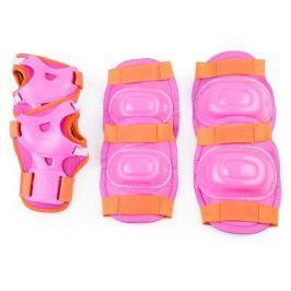 Spokey AEGIS 3-dílná sada dětských chráničů, růžové, vel S-L, S