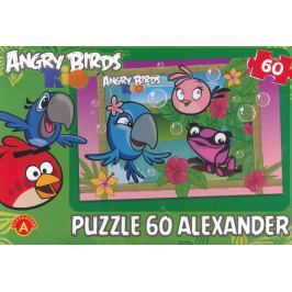 ALEXANDER Dětské puzzle Angry Birds RIO: Bubliny 60 dílků