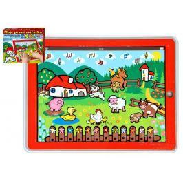 Teddies Tablet farma pro nejmenší Moje první zvířátka 24x19x1,5cm na baterie v krabičce