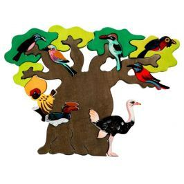 FAUNA Dřevěné puzzle z masivu  Ptačí strom: Afrika