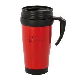 BLAUMANN Termohrnek nerez / plast 400 ml červený