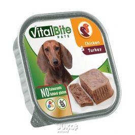 VitalBite vanička masové kousky v paté s kuřecím a krůtím 150g-13800, 10 ks
