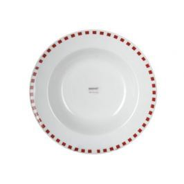 BANQUET Talíř porcelánový hluboký CUBITO Red 21,6 cm