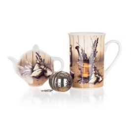 BANQUET Sada na čaj keramická LAVENDER, 3 ks, OK