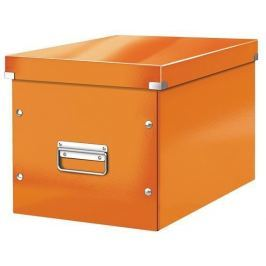 LEITZ Krabice Click & Store, oranžová, čtvercová, velká,