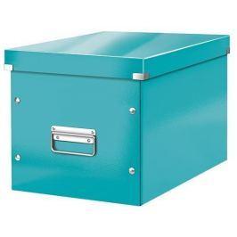 LEITZ Krabice Click & Store, zelenomodrá, velká,čtvercová, lesklá,