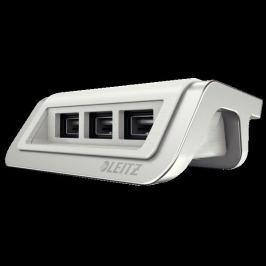 Leitz USB nabíječka  Style se 3 porty, arktická bílá
