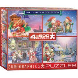 EUROGRAPHICS Puzzle Vánoční kolekce 4x500 dílků
