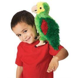 FOLKMANIS PUPPETS Plyšový Amazonský papoušek