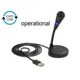 DeLock USB mikrofon se základnou a tlačítkem ztlumení