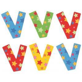 Bigjigs Toys hvězdičkové písmenko V