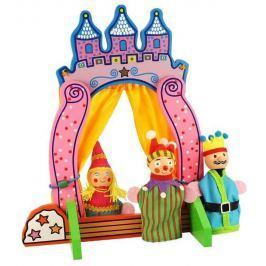 Bigjigs dřevěné divadlo s prstovými maňásky