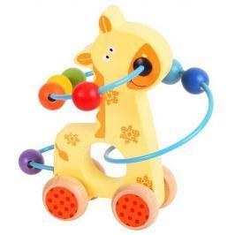 Motorické hračky - Motorický labyrint na kolečkách - žirafa