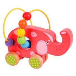 Motorické hračky - Motorický labyrint na kolečkách - slon