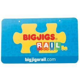 Velká kartonová cedule Bigjigs Rail