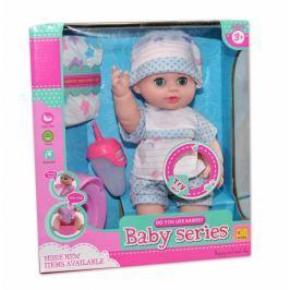 EURO BABY Panenka, miminko čůrající, pijící, mluvící - modrá