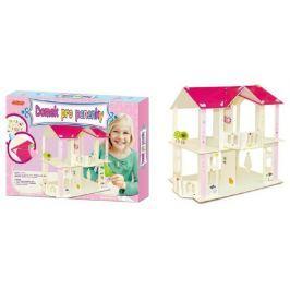 SMT Creatoys Domek pro panenky dřevěný skládačka 35x25 cm v krabici