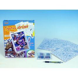 SMT Creatoys Třpytivý obrázek 4 ks v krabici