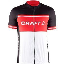 Craft Cyklodres  Classic Logo, L, černá s červenou